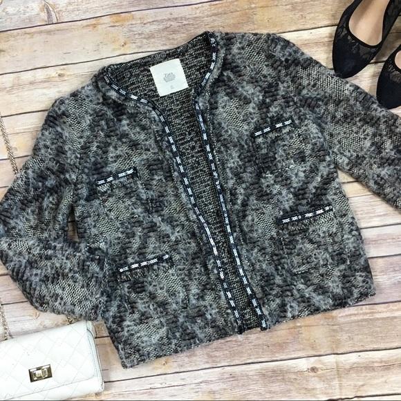 6182d61f Zara Sweaters   Knitwear Alpaca Wool Sequin Shrug   Poshmark